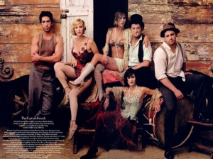 Cast of FRIENDS, photograph by Annie Leibovitz