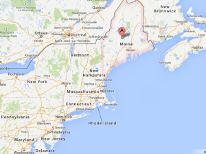 Maine borders Canada on the east coast
