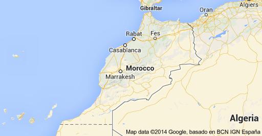 Rabat Morocco  City pictures : Rabat, Morocco Map